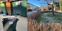 Olika bilder på trädgårdsavfall