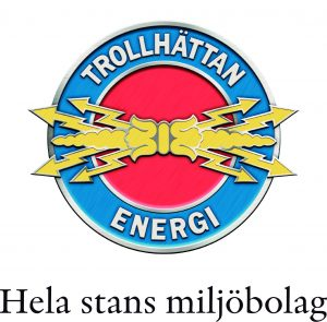 Trollhättan Energi logotyp svart payoff