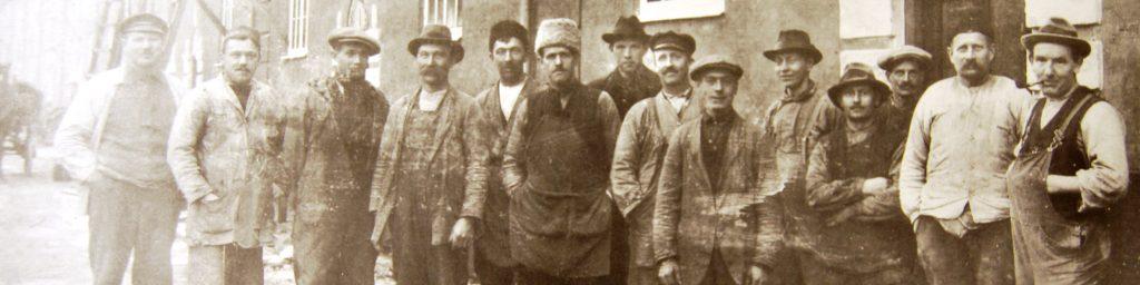 Historisk bild på män från 1800-talet