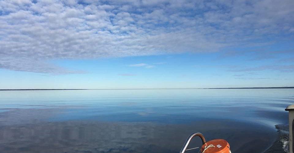 Vy över Vänern från båt