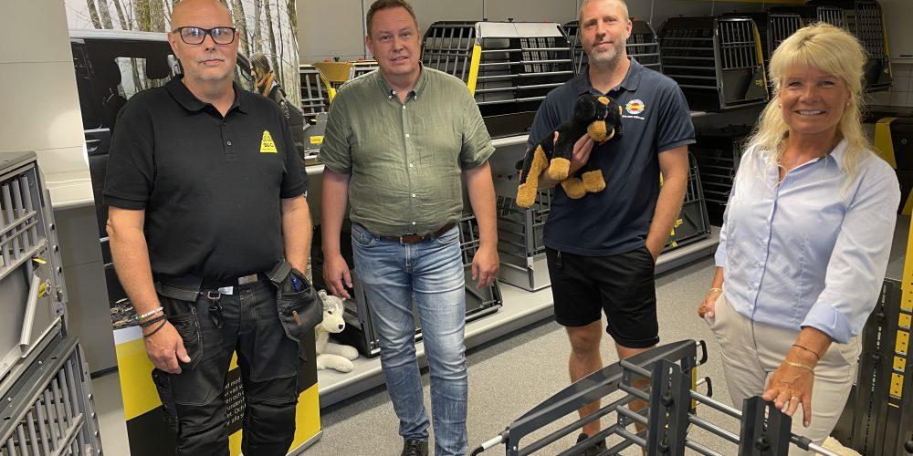 Benny Hermansson och Gert Olofsson, MIM Construction och Peter Engström och Mia Biselius, Trollhättan Energi