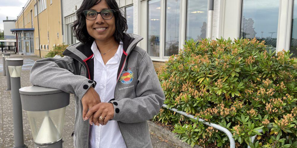 Sandra Magnusson är kvalitetsansvarig med fokus på hållbarhet